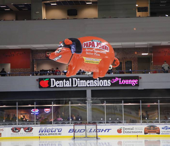 Do you want to fly a glowing pig around a rink? We can do that.